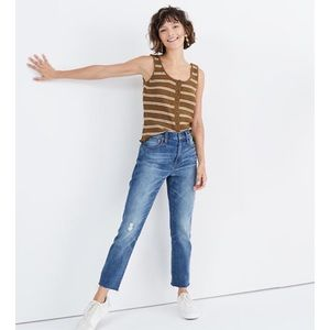 Madewell The High Rise Slim Crop Boyjean Jeans
